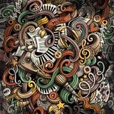 Illustrazione di musica di scarabocchi Priorità bassa musicale creativa fotografia stock libera da diritti
