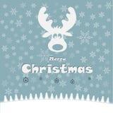 Illustrazione di Natale con i cervi divertenti Immagine Stock