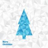 Illustrazione di Natale di vettore Albero di Natale del triangolo fractal Fotografia Stock