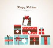 Illustrazione di Natale di vettore dei mucchi di Fotografie Stock Libere da Diritti