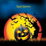 Illustrazione di notte di Halloween Fotografia Stock Libera da Diritti