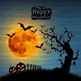 Illustrazione di notte di Halloween Fotografia Stock