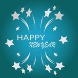 Illustrazione di nuovo anno felice Fotografia Stock