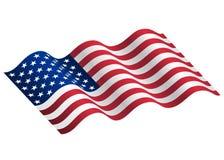 Illustrazione di ondeggiamento della bandiera di U.S.A. Fotografia Stock Libera da Diritti