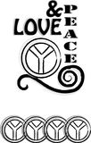 Illustrazione di pace & di amore Fotografia Stock Libera da Diritti