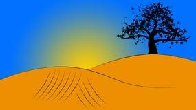 Illustrazione di paesaggio Fotografie Stock
