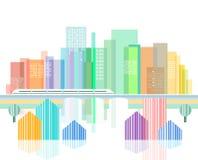 Illustrazione di paesaggio urbano Fotografia Stock