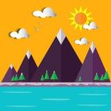 Illustrazione di paesaggio-vettore della collina Fotografia Stock Libera da Diritti
