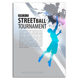 Illustrazione di pallacanestro giocatore Concetto di sport Fotografie Stock