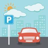 Illustrazione di parcheggio Fotografie Stock Libere da Diritti