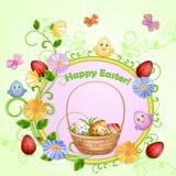 Illustrazione di Pasqua con le uova Immagini Stock Libere da Diritti