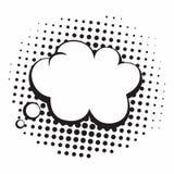 Illustrazione di pensiero in bianco e nero di Art Comics Speech Bubbles Vector di schiocco d'annata Immagine Stock