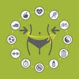 Illustrazione di perdita di peso Immagine Stock