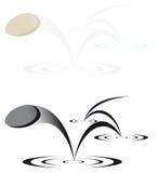 Illustrazione di pietra di salto di vettore Fotografia Stock Libera da Diritti