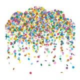 Illustrazione di pioggia Colourful astratta di vettore della nuvola dei coriandoli illustrazione di stock