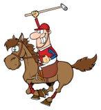 Illustrazione di polo del giocatore di polo Fotografia Stock