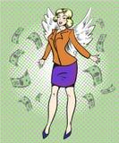 Illustrazione di Pop art di vettore di riuscita donna di affari Immagine Stock