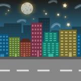 Illustrazione di posizione della città di notte Immagine Stock