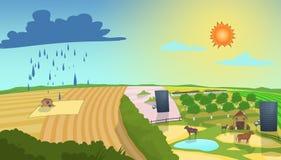 Illustrazione di previsioni del tempo Fotografia Stock