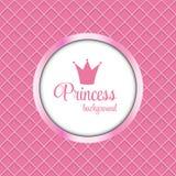 Illustrazione di principessa Crown Frame Vector illustrazione di stock