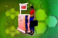 illustrazione di profitto della donna 3D Fotografia Stock Libera da Diritti