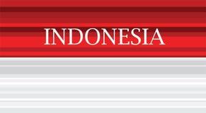 Illustrazione di progettazione di colore rosso di vettore della bandiera astratta dell'Indonesia Progettazione dell'illustrazione Fotografie Stock