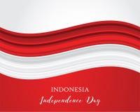 Illustrazione di progettazione di colore rosso di vettore della bandiera astratta dell'Indonesia Benvenuto al concetto dell'Indon Immagini Stock