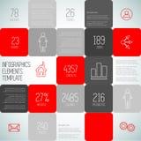 Illustrazione di progettazione del fondo dei quadrati di Infographic, templa di punti Fotografia Stock Libera da Diritti