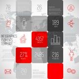 Illustrazione di progettazione del fondo dei quadrati di Infographic, templa di punti Immagine Stock Libera da Diritti