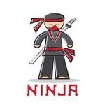 Illustrazione di progettazione del giovane di ninja del fumetto royalty illustrazione gratis