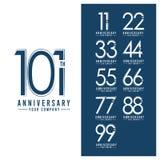 Illustrazione di progettazione del modello di vettore di anniversario di anno del Th illustrazione vettoriale