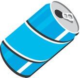 Illustrazione di progettazione di clipart di vettore della latta di soda Immagine Stock
