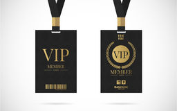 Illustrazione di progettazione di vettore dell'insieme di carta del membro di VIP Immagine Stock
