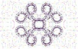 Illustrazione di progettazione floreale coperta di spine di multi colore illustrazione di stock