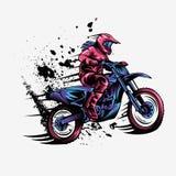 Illustrazione di progettazione di vettore di motocross della ragazza royalty illustrazione gratis