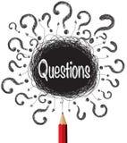 Illustrazione di progettazioni dei punti interrogativi Immagine Stock