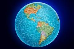 Illustrazione di puzzle del globo della terra dell'America Fotografia Stock
