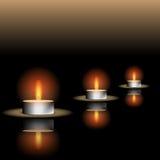 Illustrazione di riflessione della candela Fotografie Stock