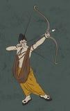 Illustrazione di riserva antica della cartolina d'auguri felice del ` di Dussehra del ` illustrazione vettoriale