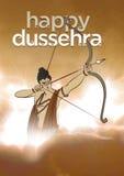 Illustrazione di riserva antica della cartolina d'auguri felice del ` di Dussehra del ` royalty illustrazione gratis