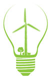 Illustrazione di riserva dell'energia eolica Fotografia Stock Libera da Diritti