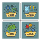 Illustrazione di riserva Infographic piano Rete sociale Fotografie Stock Libere da Diritti