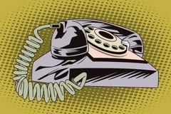 Illustrazione di riserva Obietti nel retro Pop art di stile e pubblicità dell'annata Retro telefono Immagine Stock