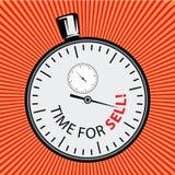 Illustrazione di riserva Obietti nel retro Pop art di stile e pubblicità dell'annata stopwatch Tempo per vendita illustrazione di stock