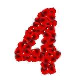 Illustrazione di Rose Petals Realistic Number Vector Fotografia Stock Libera da Diritti
