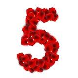 Illustrazione di Rose Petals Realistic Number Vector royalty illustrazione gratis