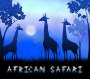 Illustrazione di Safari Showing Wildlife Reserve 3d dell'Africano illustrazione di stock