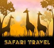 Illustrazione di Safari Travel Showing Wildlife Reserve 3d illustrazione vettoriale