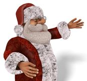 Illustrazione di Santa Claus 3D nel fumetto Stule Isolated On White Immagine Stock