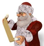 Illustrazione di Santa Claus 3D nel fumetto Stule Isolated On White Fotografia Stock Libera da Diritti